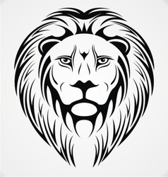 Lions Head Tattoo Design vector