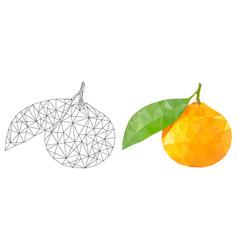 mandarin orange polygonal vector image
