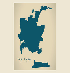 Modern map - san diego city of the usa vector