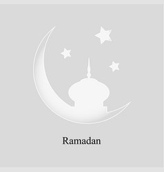 more than a month to the mosque and stars on a vector image