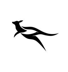 original modern kangaroo logo creative concept vector image