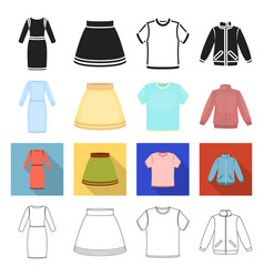patterns clothes colors and other web icon in vector image