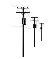 Power supply residential buildings a row of vector