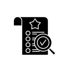 Quality control black icon sign on vector