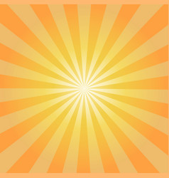 retro orange background ray stylish vector image