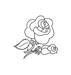 rose icon character 03 vector image
