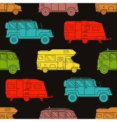 Rv Travel Pattern Background vector image