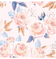 Seamless vintage roses vector