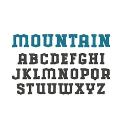 Serif font in the style of hand drawn graphics vector