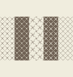 set black and white mosaic textures vector image