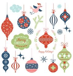 set of christmas toys vector image
