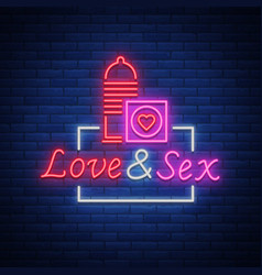 Sex shop is a neon sign logo vector