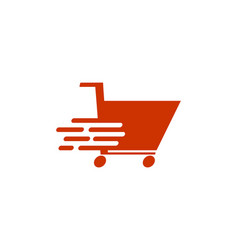 shooping cart logo design vector image