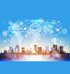 Social media communication internet network global vector