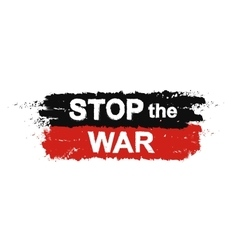 Stop the war sign vector image