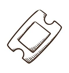 Ticket symbol vector
