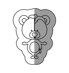 Toy teddy bear damaged design vector