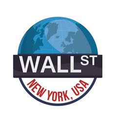Wall street new york world investment vector