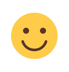 Yellow smiling cartoon face emoji people emotion vector