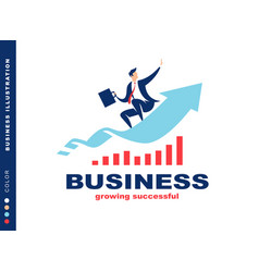 businessman flying to success vector image
