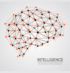 creative concept of the human brain vector image