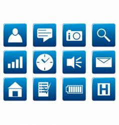 gadget square icons vector image vector image