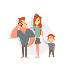 happy family father mother and son funny and vector image vector image