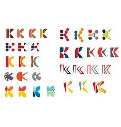 k alphabet symbols vector image vector image