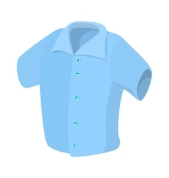 Short sleeved men shirt icon cartoon style vector image vector image