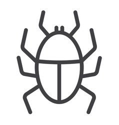 virus line icon infection and security vector image