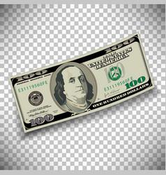 A 100 dollar bill vector image vector image