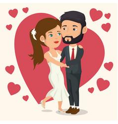 bride and groom design vector image