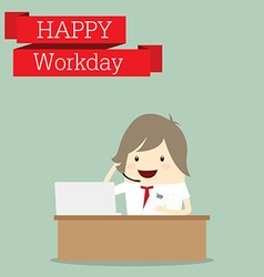 businessman is happy at the workday call center vector image vector image