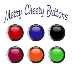 colorful merry cheery shiny buttons vector image
