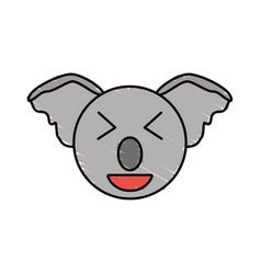 Cute koala drawing animal vector