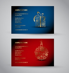 Set of christmas New Year banners 2012 vector image vector image