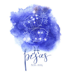 astrology sign pisces vector image vector image