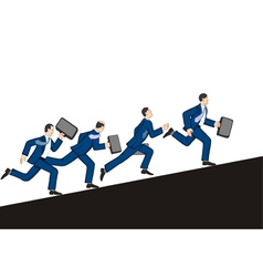 Businessmen running up vector image