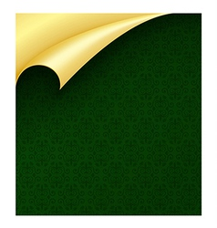Dark green luxury wrapping paper with vintage vector image vector image