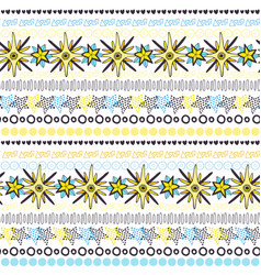 ethnic seamless pattern background fashion stars vector image vector image