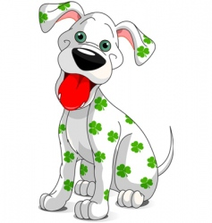 St Patrick's day dog vector image vector image