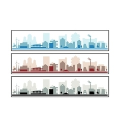 architectural building vector image