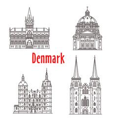 Architecture denmark landmark buildings vector