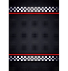Racing background metallic perforated vector image vector image