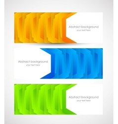 Set of geometric banners vector image