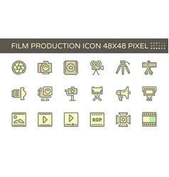 20191210 film production 1 48x48 blue vector image