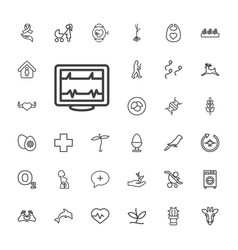 33 life icons vector