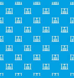 3d printer printing layout of building pattern vector image