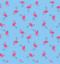 abstract flamingo seamless pattern background vector image
