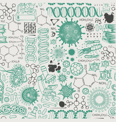 Abstract seamless pattern on a scientific topic vector